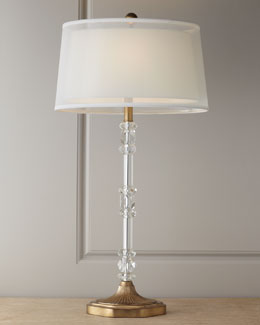 "John-Richard Collection ""Sophisticated"" Crystal Lamp"