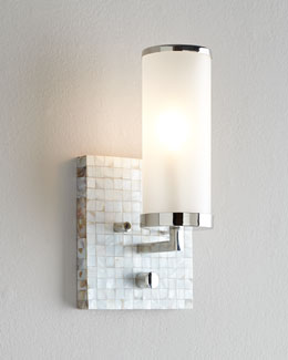 Regina-Andrew Design Square Mother-of-Pearl Wall Sconce