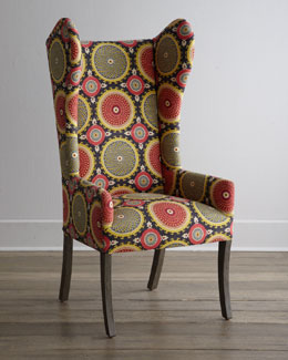 """Spiro Swirl"" Wing Chair"