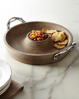 Weathered-Wood Chip & Dip
