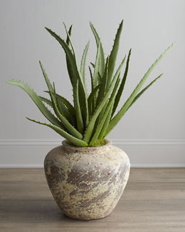 John-Richard Collection Faux Potted Aloe Plant