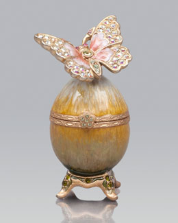 "Jay Strongwater ""Amelie"" Butterfly Egg Box"
