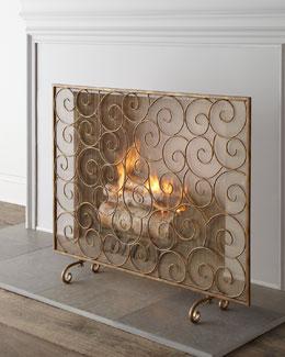 """""""Golden Swirl"""" Fireplace Screen"""