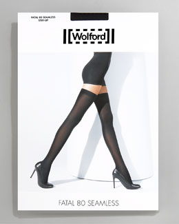 Wolford Fatal 80 Seamless Stay-Up Stockings