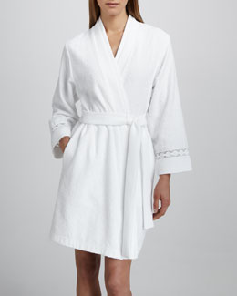 Oscar de la Renta Short Double-Face Terry Robe