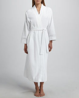 Oscar de la Renta Long Double-Face Terry Robe