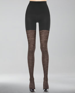 Spanx Patterned Tight-End Tights, Sweater Stripe