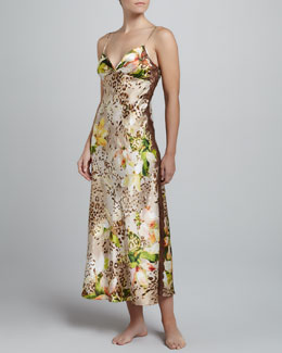 Oscar de la Renta Tiger Lily Long Gown
