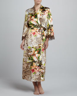 Oscar de la Renta Tiger Lily Long Robe