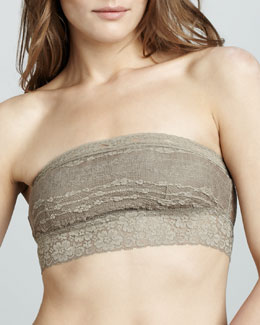 Free People Lace Bandeau, Taupe