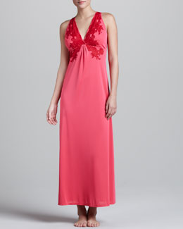 Natori Enchant Lace-Trim Gown