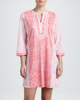 Oscar de la Renta Jungle Mirage Pima Tunic