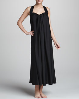 Donna Karan Georgette Sleepwear Gown, Black