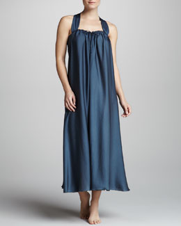 Donna Karan Georgette Sleepwear Gown, Twilight Blue
