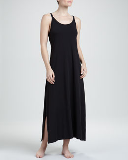 Donna Karan Whisper Cotton Gown, Black, Long