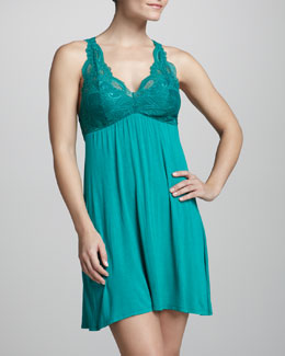 Fleur't Lace-Top Tank Dress, Blue Grass