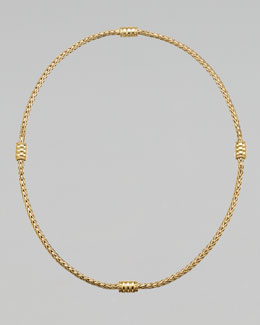 "John Hardy Gold Bedeg Station Necklace, 18""L"