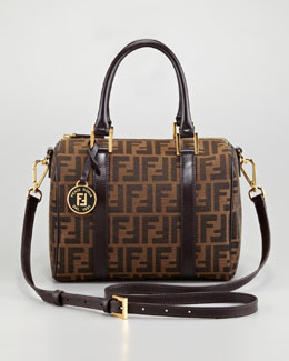 Fendi Zucca Boston Bag, Medium