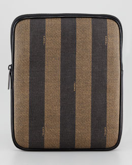Fendi Pequin Striped Canvas iPad Case