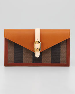 Fendi Belted Envelope Clutch Bag, Extra Small