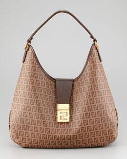 Fendi Zucca Coated Canvas Hobo Bag
