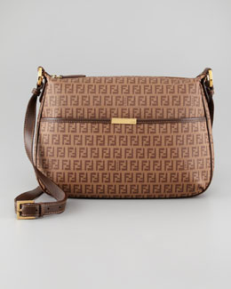Fendi Zucca Coated Canvas Crossbody Bag