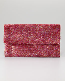 Moyna Beaded Flap-Top Clutch Bag