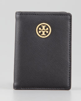 Tory Burch Robinson Transit Pass Holder, Black