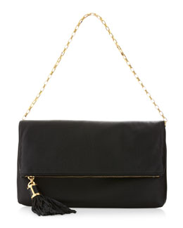 Michael Kors Tonne Fold-Over Clutch Bag, Black