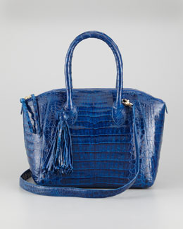 Nancy Gonzalez Tassel Small Bowler Bag