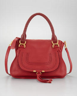 Chloe Marcie Medium Shoulder Bag, Hollyberry