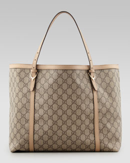 Gucci Nice GG Supreme Canvas Tote Bag, Beige/Cream