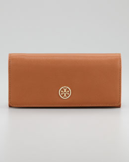Tory Burch Robinson Envelope Continental Wallet, Luggage/French Rose