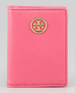 Tory Burch Robinson Passport Holder, French Rose/Luggage