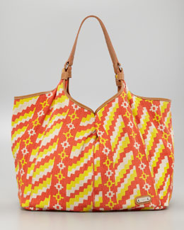Rafe Playa Caribe Jute Shopper, Orange