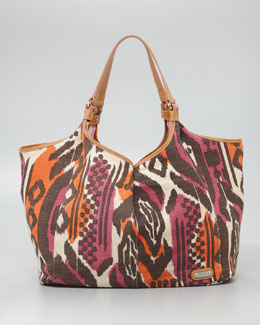 Rafe Playa Ikat Jute Shopper Bag