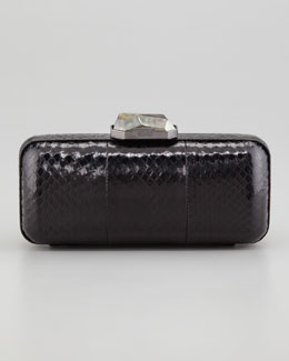 Rafe Demi Watersnake Minaudiere, Black
