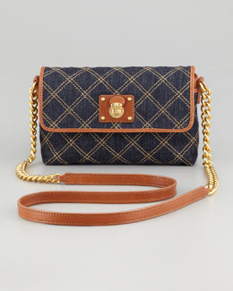 Marc Jacobs Single Quilted Denim Crossbody Bag