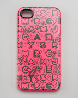 MARC by Marc Jacobs Dreamy Graffiti-Print iPhone 4 and 4s Case, Pink