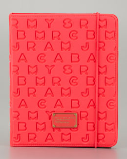 MARC by Marc Jacobs Dreamy Logo Neoprene Tablet Case, Flamingo Pink