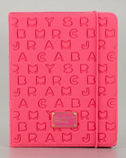 MARC by Marc Jacobs Dreamy Logo Neoprene Tablet Case, Pop Pink