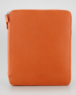 Prada Saffiano Leather iPad Case/Stand, Papaya