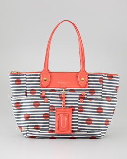 MARC by Marc Jacobs Preppy Nylon East-West Tote Bag, Striped