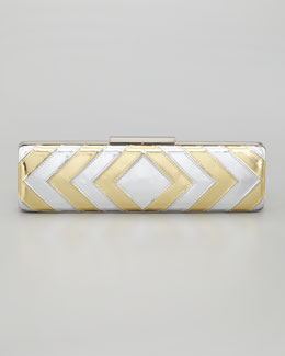 Badgley Mischka Maryann Minaudiere, Gold/Silver