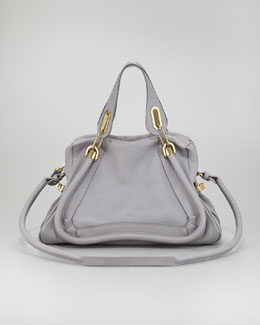Chloe Paraty Medium Satchel Bag, Dark Gray