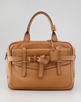 Reed Krakoff Fighter Satchel Bag, Saddle