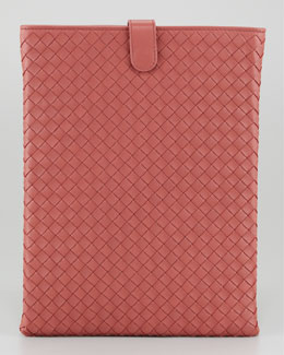 Bottega Veneta iPad Cover, Dark Rose