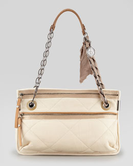 Lanvin Amalia Medium Quilted Leather Shoulder Bag, Shell