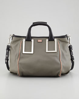 Chloe Ethel Medium Satchel Bag, Gray