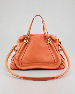 Chloe Paraty Medium Shoulder Bag, Suntan